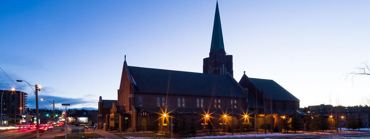 outside of Sacred Heart Church